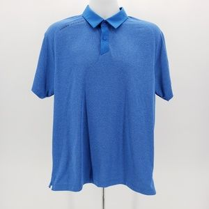Under Armour Heat Gear loosefit blue polo Large